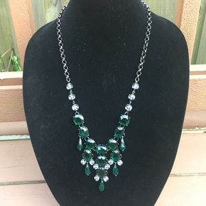 Emerald Green Chandelier Necklace